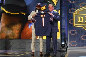 Kevin White was taken 7th overall by the Chicago Bears at the 2015 NFL Draft. Photo courtesy windycitygridiron.com